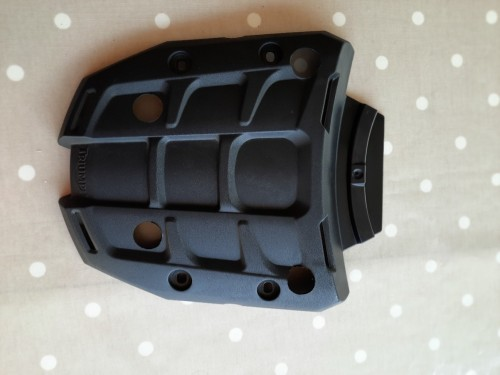 Rear plate adapted to take a Givi M5 monokey plate.